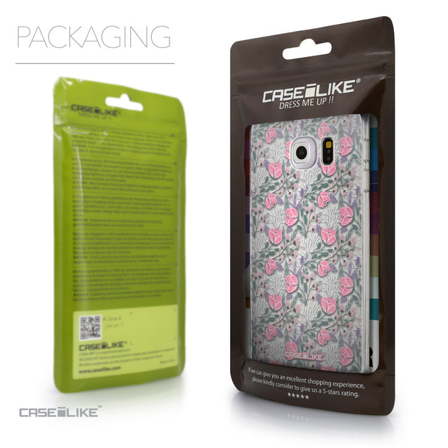 Packaging - CASEiLIKE Samsung Galaxy S6 Edge back cover Flowers Herbs 2246