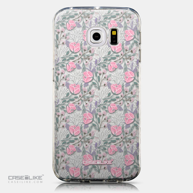 CASEiLIKE Samsung Galaxy S6 Edge back cover Flowers Herbs 2246