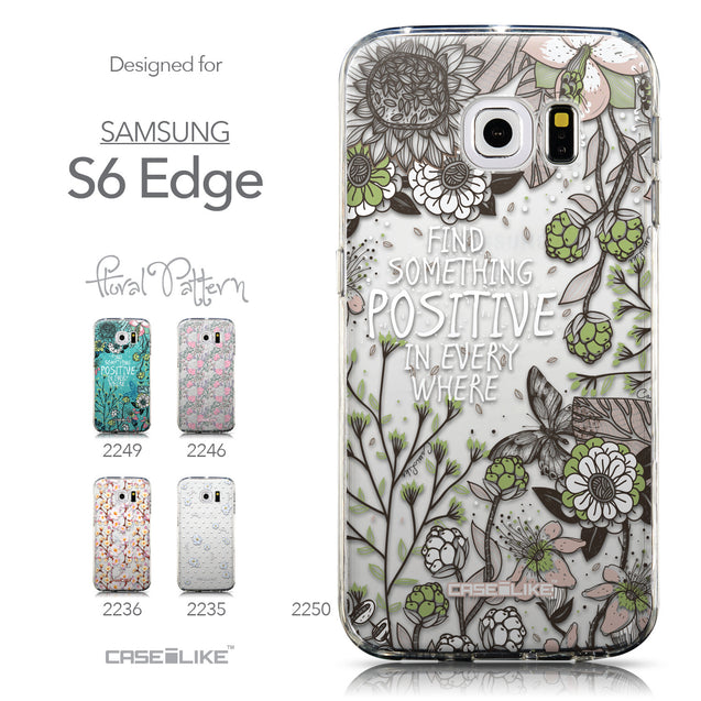 Collection - CASEiLIKE Samsung Galaxy S6 Edge back cover Blooming Flowers 2250