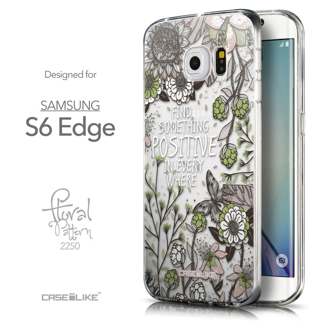 Front & Side View - CASEiLIKE Samsung Galaxy S6 Edge back cover Blooming Flowers 2250