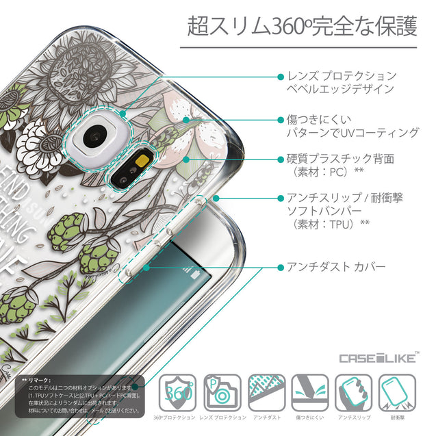Details in Japanese - CASEiLIKE Samsung Galaxy S6 Edge back cover Blooming Flowers 2250