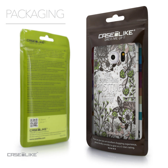 Packaging - CASEiLIKE Samsung Galaxy S6 Edge back cover Blooming Flowers 2250
