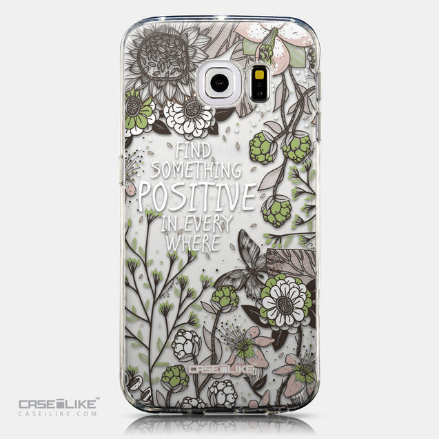 CASEiLIKE Samsung Galaxy S6 Edge back cover Blooming Flowers 2250