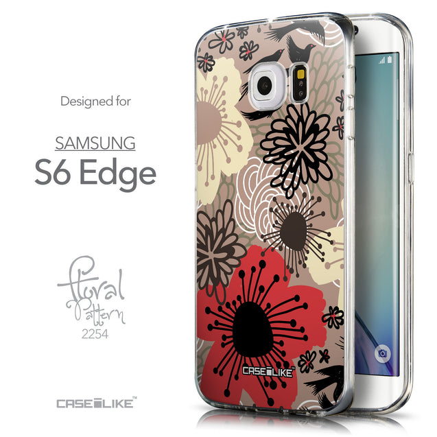Front & Side View - CASEiLIKE Samsung Galaxy S6 Edge back cover Japanese Floral 2254