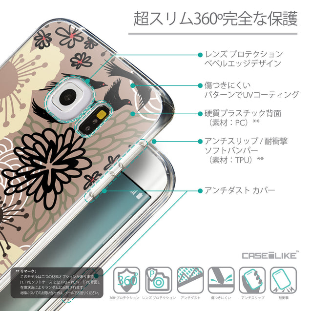 Details in Japanese - CASEiLIKE Samsung Galaxy S6 Edge back cover Japanese Floral 2254