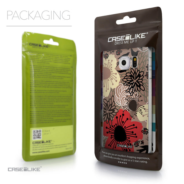Packaging - CASEiLIKE Samsung Galaxy S6 Edge back cover Japanese Floral 2254