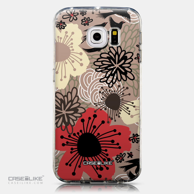 CASEiLIKE Samsung Galaxy S6 Edge back cover Japanese Floral 2254