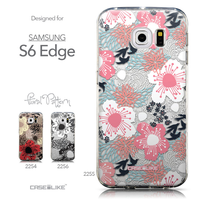 Collection - CASEiLIKE Samsung Galaxy S6 Edge back cover Japanese Floral 2255