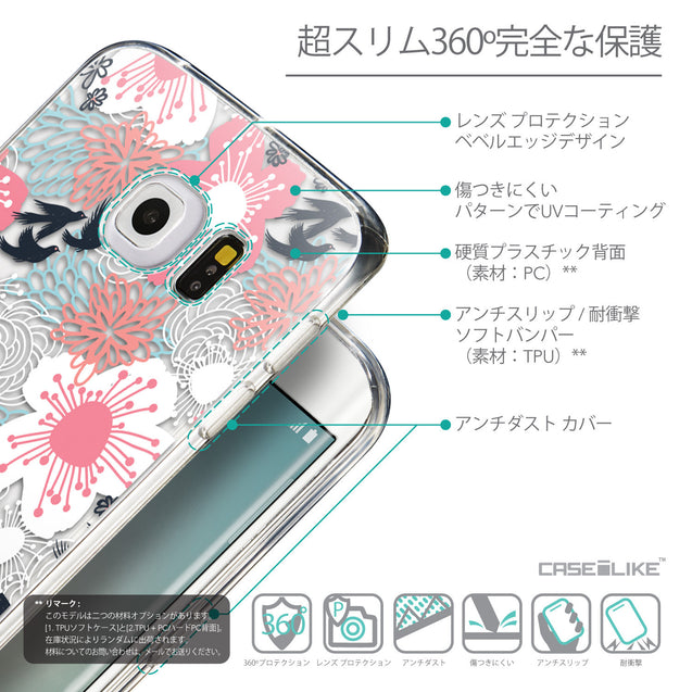 Details in Japanese - CASEiLIKE Samsung Galaxy S6 Edge back cover Japanese Floral 2255