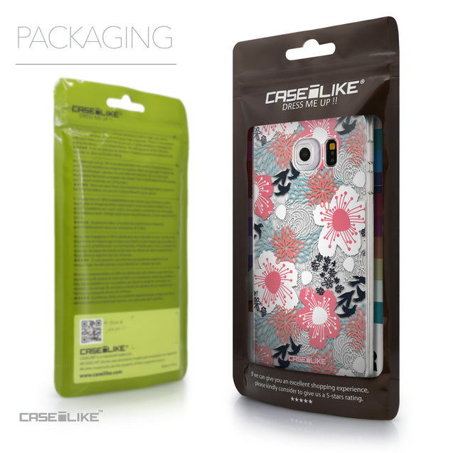 Packaging - CASEiLIKE Samsung Galaxy S6 Edge back cover Japanese Floral 2255