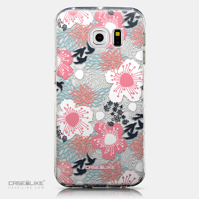 CASEiLIKE Samsung Galaxy S6 Edge back cover Japanese Floral 2255