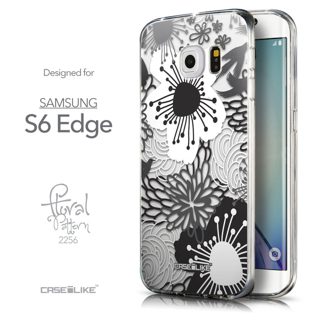 Front & Side View - CASEiLIKE Samsung Galaxy S6 Edge back cover Japanese Floral 2256
