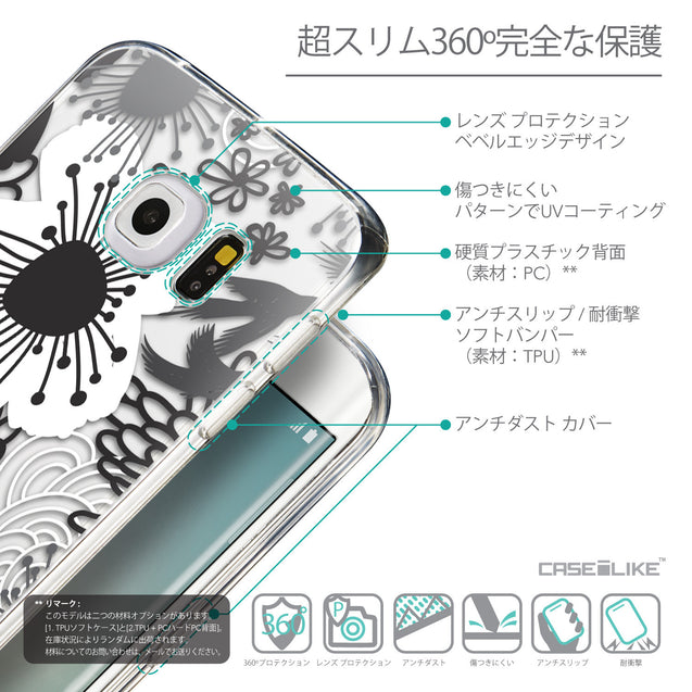 Details in Japanese - CASEiLIKE Samsung Galaxy S6 Edge back cover Japanese Floral 2256
