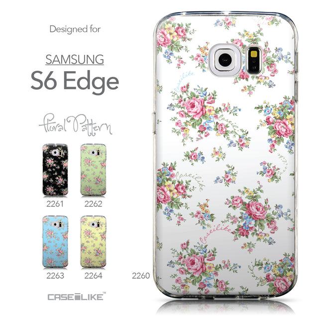 Collection - CASEiLIKE Samsung Galaxy S6 Edge back cover Floral Rose Classic 2260