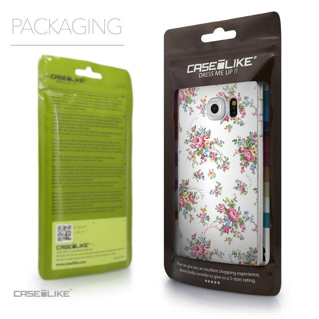 Packaging - CASEiLIKE Samsung Galaxy S6 Edge back cover Floral Rose Classic 2260