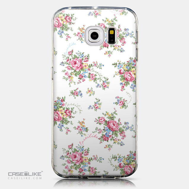 CASEiLIKE Samsung Galaxy S6 Edge back cover Floral Rose Classic 2260