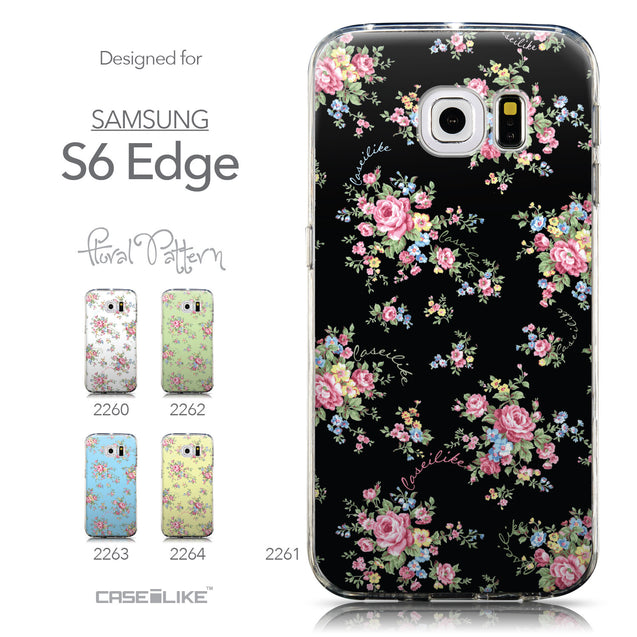 Collection - CASEiLIKE Samsung Galaxy S6 Edge back cover Floral Rose Classic 2261