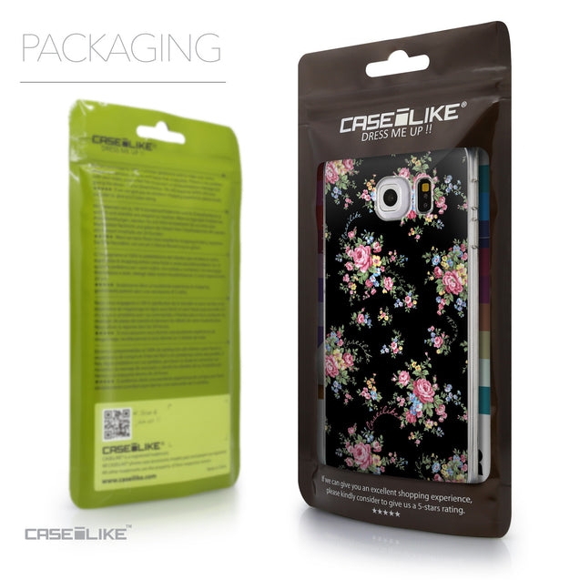 Packaging - CASEiLIKE Samsung Galaxy S6 Edge back cover Floral Rose Classic 2261