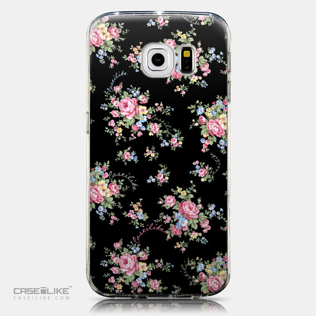 CASEiLIKE Samsung Galaxy S6 Edge back cover Floral Rose Classic 2261