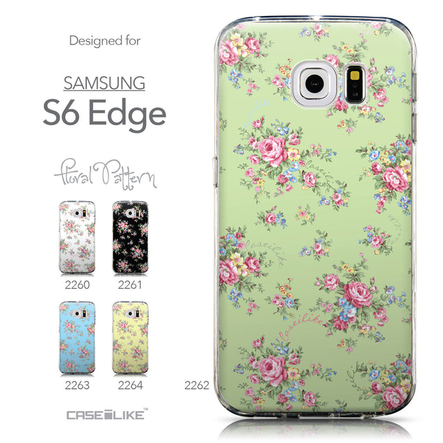 Collection - CASEiLIKE Samsung Galaxy S6 Edge back cover Floral Rose Classic 2262