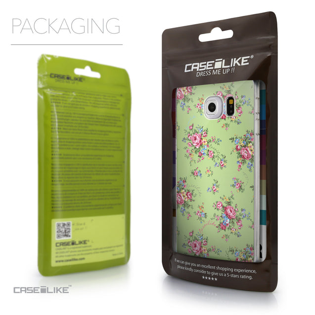 Packaging - CASEiLIKE Samsung Galaxy S6 Edge back cover Floral Rose Classic 2262