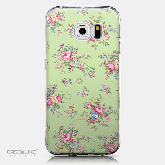 CASEiLIKE Samsung Galaxy S6 Edge back cover Floral Rose Classic 2262