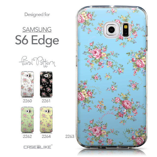 Collection - CASEiLIKE Samsung Galaxy S6 Edge back cover Floral Rose Classic 2263