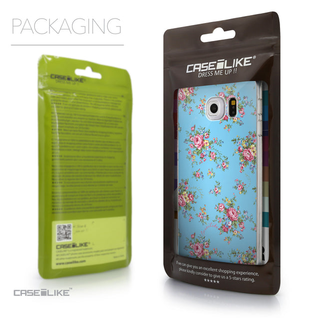 Packaging - CASEiLIKE Samsung Galaxy S6 Edge back cover Floral Rose Classic 2263
