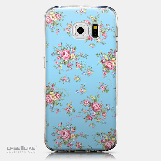 CASEiLIKE Samsung Galaxy S6 Edge back cover Floral Rose Classic 2263