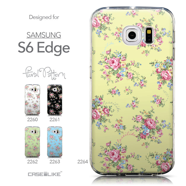 Collection - CASEiLIKE Samsung Galaxy S6 Edge back cover Floral Rose Classic 2264