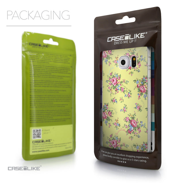 Packaging - CASEiLIKE Samsung Galaxy S6 Edge back cover Floral Rose Classic 2264