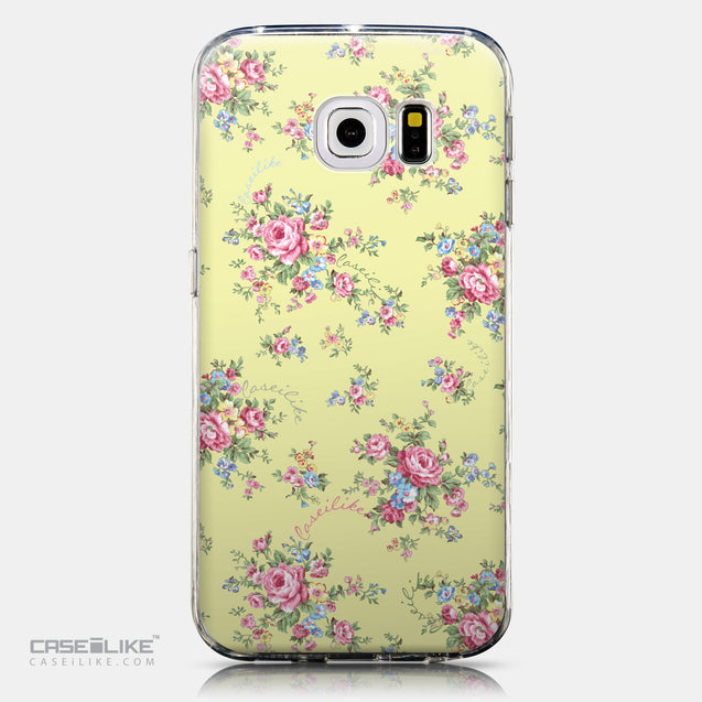 CASEiLIKE Samsung Galaxy S6 Edge back cover Floral Rose Classic 2264