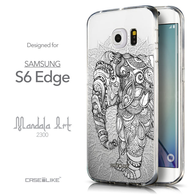Front & Side View - CASEiLIKE Samsung Galaxy S6 Edge back cover Mandala Art 2300