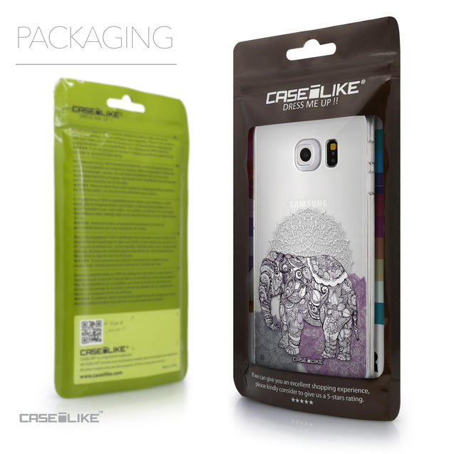 Packaging - CASEiLIKE Samsung Galaxy S6 Edge back cover Mandala Art 2301