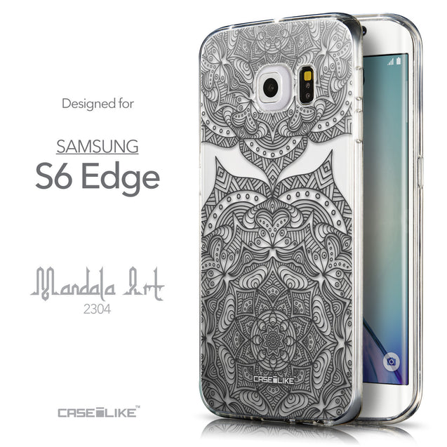 Front & Side View - CASEiLIKE Samsung Galaxy S6 Edge back cover Mandala Art 2304
