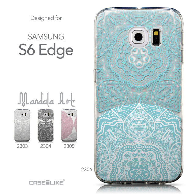 Collection - CASEiLIKE Samsung Galaxy S6 Edge back cover Mandala Art 2306