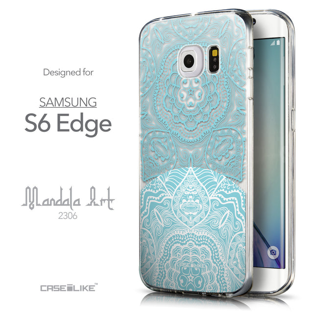 Front & Side View - CASEiLIKE Samsung Galaxy S6 Edge back cover Mandala Art 2306