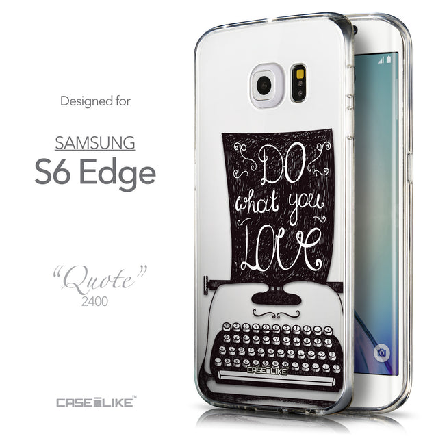 Front & Side View - CASEiLIKE Samsung Galaxy S6 Edge back cover Quote 2400