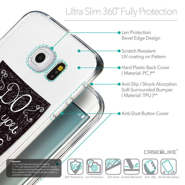 Details in English - CASEiLIKE Samsung Galaxy S6 Edge back cover Quote 2400