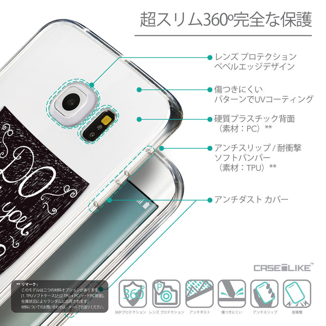 Details in Japanese - CASEiLIKE Samsung Galaxy S6 Edge back cover Quote 2400