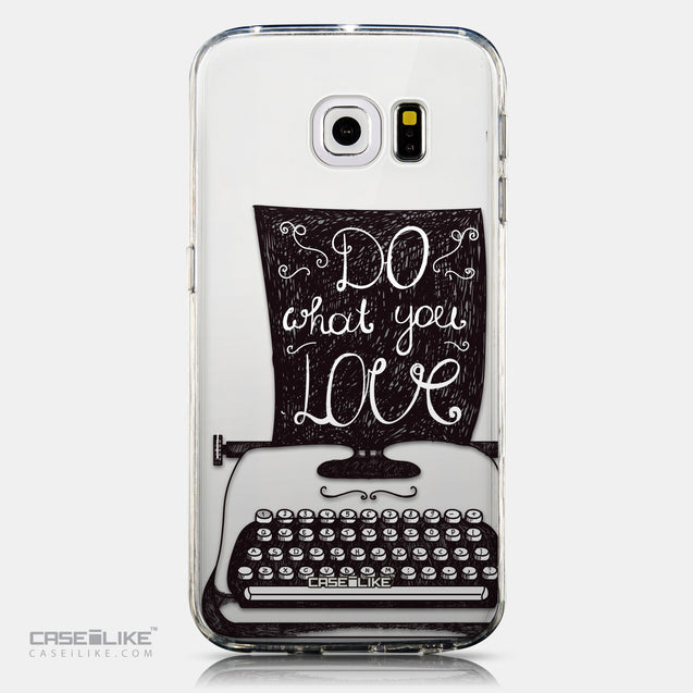 CASEiLIKE Samsung Galaxy S6 Edge back cover Quote 2400