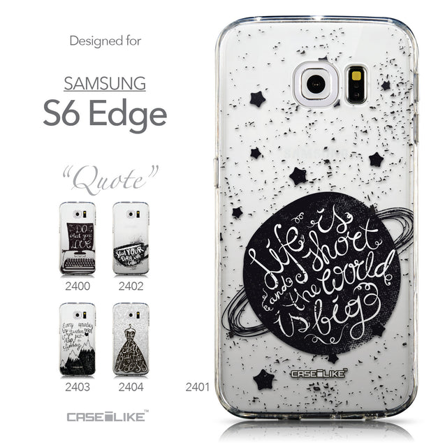 Collection - CASEiLIKE Samsung Galaxy S6 Edge back cover Quote 2401