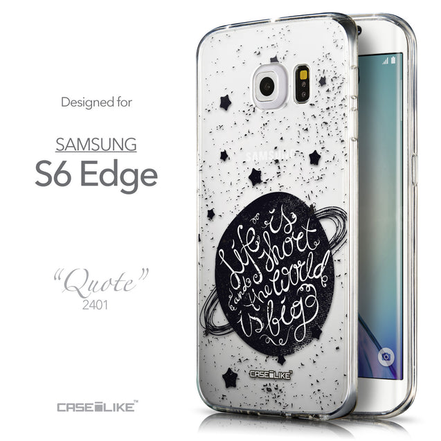 Front & Side View - CASEiLIKE Samsung Galaxy S6 Edge back cover Quote 2401