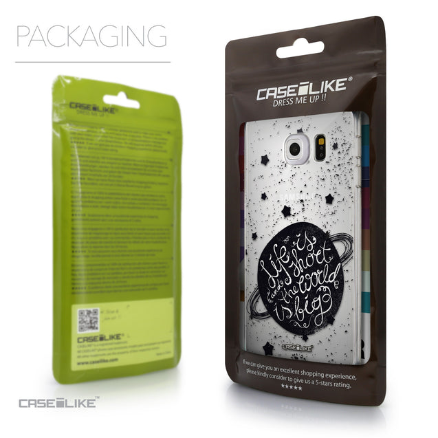 Packaging - CASEiLIKE Samsung Galaxy S6 Edge back cover Quote 2401