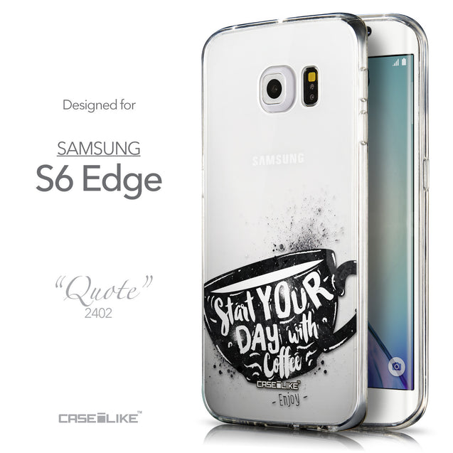 Front & Side View - CASEiLIKE Samsung Galaxy S6 Edge back cover Quote 2402