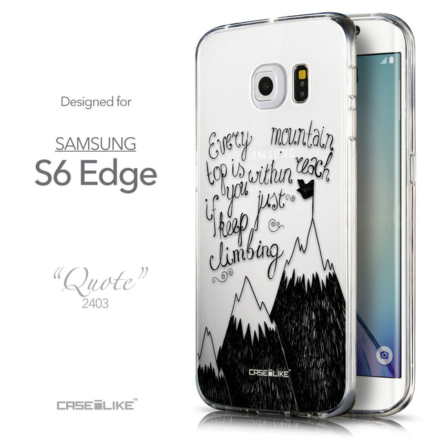 Front & Side View - CASEiLIKE Samsung Galaxy S6 Edge back cover Indian Tribal Theme Pattern 2053