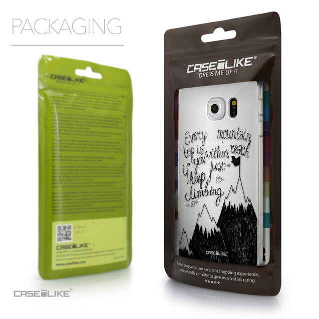 Packaging - CASEiLIKE Samsung Galaxy S6 Edge back cover Indian Tribal Theme Pattern 2053