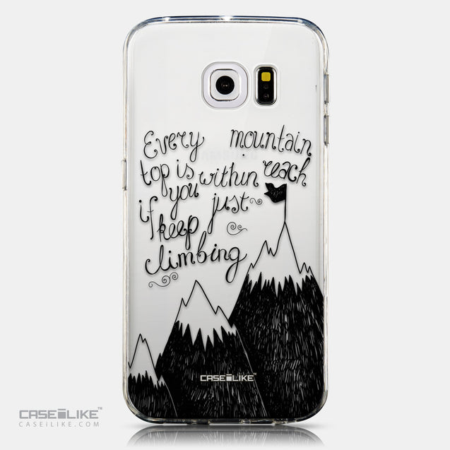 CASEiLIKE Samsung Galaxy S6 Edge back cover Quote 2403