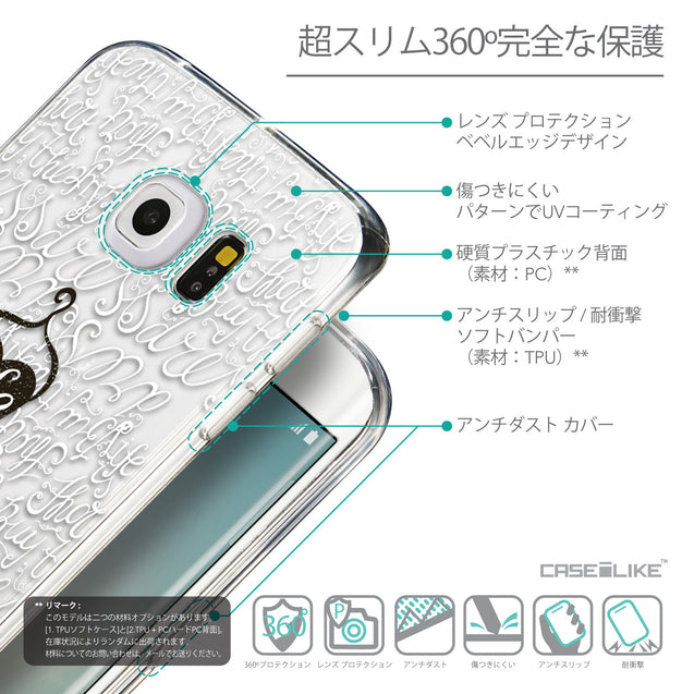 Details in Japanese - CASEiLIKE Samsung Galaxy S6 Edge back cover Indian Tribal Theme Pattern 2053