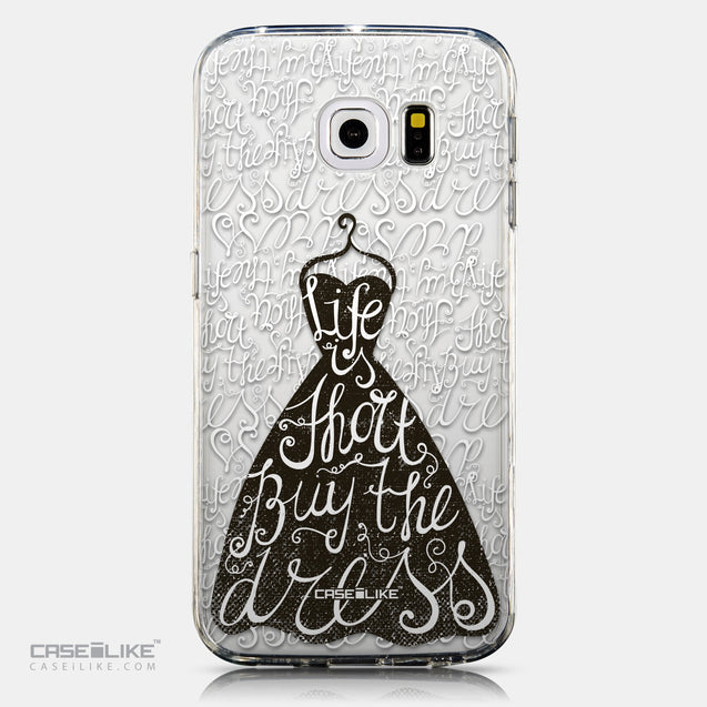 CASEiLIKE Samsung Galaxy S6 Edge back cover Quote 2404